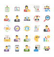 flat icons pack of human resources vector image vector image