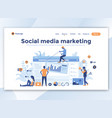 flat modern design of wesite template - social vector image vector image