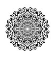 floral round decorative symbol vintage decorative vector image vector image