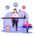 freelance online job artist soho vector image vector image