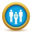 Gold working team icon vector image vector image