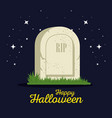 gravestone halloween cartoon vector image