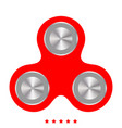 hand spinner icon flat style vector image