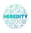 heredity round colorful symbol thin line vector image
