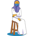 islamic woman vector image vector image