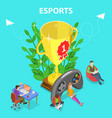 isometric flat concept of esports vector image