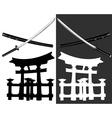 Itsukusima katana vector image vector image
