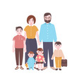large happy family portrait smiling mother vector image