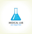 medical lab logo vector image