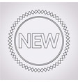 new sign icon vector image