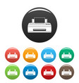 old printer icons set color vector image vector image