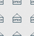 open icon sign Seamless abstract background with vector image