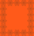 orange background framed with the spiderweb vector image vector image