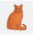 orange cat icon cartoon style vector image vector image