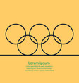 outline background rings with text olympic card t vector image vector image
