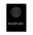 passport book icon vector image