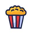 popcorn icon design box isolated on white vector image