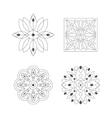 Regular Shape Four Doodle Ornamental Figures In vector image vector image