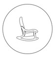 rocking chair icon black color in circle vector image