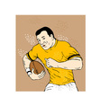 rugby player poster vector image vector image