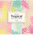 set modern tropical background for your design vector image vector image