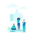 social networking - flat design style colorful vector image