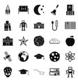 space exploration icons set simple style vector image vector image