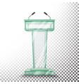 transparent glass podium tribune rostrum vector image vector image