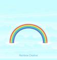 trendy rainbow creative icon design vector image vector image