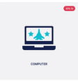 two color computer icon from army concept vector image vector image