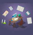 welcome to school concept isometric vector image