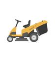 yellow lawnmower vector image vector image