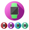 Set flat icons of Original design smartwatch vector image