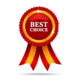 Red best choice medal vector image