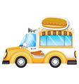 A vehicle selling buns and hotdogs vector image vector image