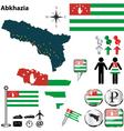 Abkhazia map vector image vector image