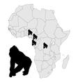 Africa Gorilla range vector image vector image
