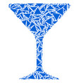 alcohol glass collage of triangles vector image