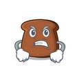 angry brown bread mascot cartoon vector image vector image