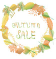 autumn leaves frames and border background vector image vector image