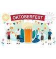 beer festival oktoberfest vector image vector image
