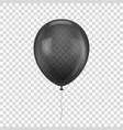 black realistic balloon vector image vector image