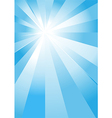 Blue light burst vector image vector image