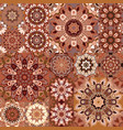 brown vintage seamless pattern with floral vector image