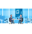business man on job interview with hr manager two vector image vector image