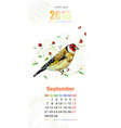 calendar for 2015 september vector image vector image