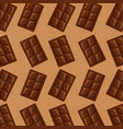 chocolate bar square sweet pattern image vector image