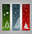Christmas banner with abstract colorful trees vector image vector image
