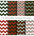 christmas chevron pattern collection vector image vector image
