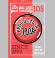 color vintage pins production banner vector image vector image